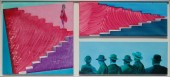 Beyond the Glass Ceiling, triptych, 145x65 cm, SOLD
