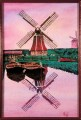 Two windmills, oil on panel, 22x30 cm, SOLD (coll N Japan)