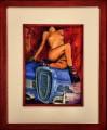 Calendar Girl I, oil on panel, 30x35 cm