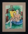Menage a Trois II, oil on panel, 45x60 cm