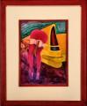 Calendar Girl II, oil on panel, 30x35 cm