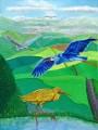 Cranes, oil on canvas, 60x80 cm
