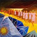 Turn, oil on canvas, 40 x 40 cm