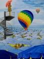 Balloon, oil on cnavas, 60 x 80 cm